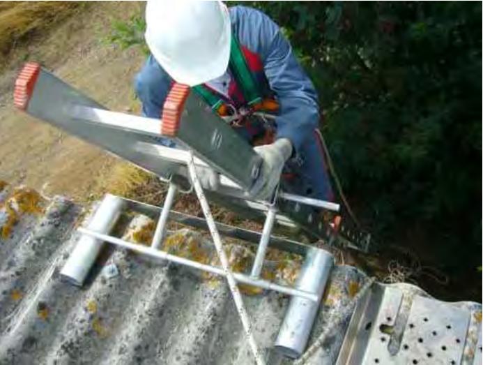 Prévention des risques professionnels pour le Docuemetn Unique pour les échelles d'accès au toit des élevages agricoles